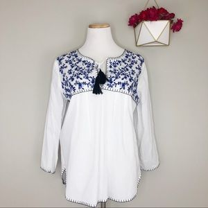 Collective Concepts Embroidered Top (Stitch Fix)
